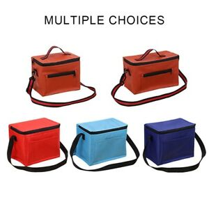 Small Insulated Lunch Box Thermal Cooler Tote Food Lunch Storage Bag UK