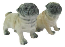Pug Porcelain Dog Salt & Pepper Shakers Quality App 6cm H