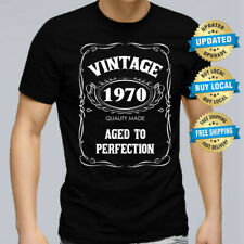 50th BIRTHDAY VINTAGE 1970 Men T-shirt Size XS-5XL Present Gift 50 years Party