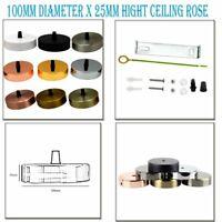 100mm x 25mm Ceiling Rose Chandelier Light Fitting Vintage Pendant Lamp Lighting
