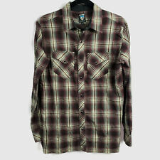 Kuhl Mens Size Small Western Shirt Button Front Pearl Snap Plaid