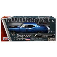 MOTORMAX 73315 1969 69 DODGE CORONET SUPER BEE 1/24 DIECAST MODEL CAR BLUE