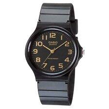 Casio Men's Black Resin Watch, Analog, Water Resistant, MQ24-1B2