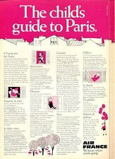 1969 Air France Airlines 'The Childs Guide to Paris' PRINT AD