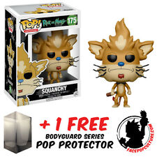 FUNKO POP RICK AND MORTY SQUANCHY #175 VINYL FIGURE + FREE POP PROTECTOR