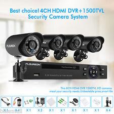 4Ch Hdmi Cctv Dvr Smart Outdoor Night Vision 1500Tvl Home Security Camera System