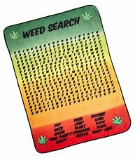 Surreal Entertainment Weed Word Search Fleece Blanket One Size