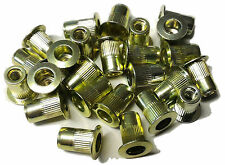 Rivet nuts 6-32 steel 25pc BUY 3 or MORE, 10% Rebate (rivnut riv nut nutsert)