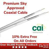 Satellite Extension Coaxial Cable Double Premium 10% Extra Free With Connectors