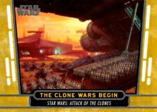 Star Wars 40th Anniversary Gold Parallel Card #48 The Clone Wars Begin, Topps