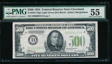 AC 1934 $500 FIVE HUNDRED DOLLAR BILL Cleveland LGS Light Green PMG 55 comment