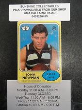1972 SCANLENS CARD NO.55 JOHN NEWMAN GEELONG CATS FAIR