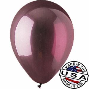 "12 - 96 pc 12"" Crystal Burgundy Latex Balloons Party Decoration Birthday Wedding"