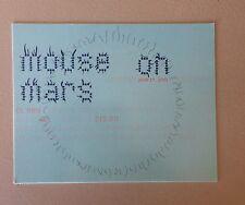 Mouse On Mars Gig Card Los Angeles 2001