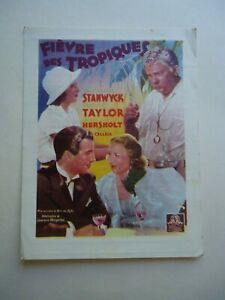BARBARA STANWYCK+ROBERT TAYLOR/ his brother's wife/ UP23/ belgian mini poster