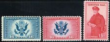 #CE1-2 AIR POST SPECIAL DELIVERY AND #FA1 CERTIFIED MAIL STAMP ISSUES MINT-OG/NH