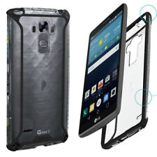 For LG G Vista 2 (2015) + Shockproof 360° Bumper TPU Cover Case Black