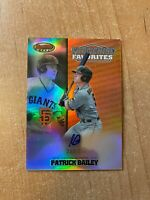 2020 Bowman's Best - Patrick Bailey - Franchise Favorites Chrome Auto #d 233/250