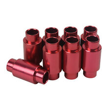 8 Red Aluminum Spacers for Inline skate wheels for Micro bearings & 6mm axles