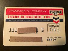 Standard Oil Company of California/Chevron 1969 Vintage Collectors Credit Card