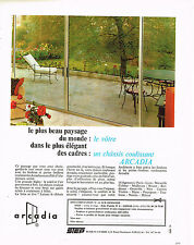 PUBLICITE ADVERTISING 094  1966  ARCADIA  fenetres chassis coulissants