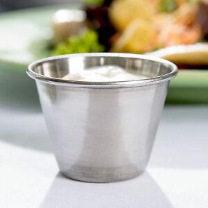 20 x Stainless Steel Sauce Pots Cups 2.5oz 70ml Ramekins Condiment Serving Bowls