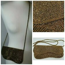 Embellished Beaded Bronze Peaky Blinders 1920s Style Wedding Shoulder Bag 9x5''