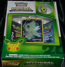 Celebi Mythical Pokemon Collection Box Trading Cards Game 2 Booster Packs NEW