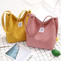 Women Canvas Shoulder Bag Shopper Tote Satchel Large Capacity Casual Handbag US