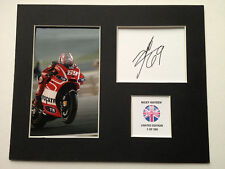 Limited Edition Nicky Hayden 2013 Moto GP Signed Mount Display AUTOGRAPH