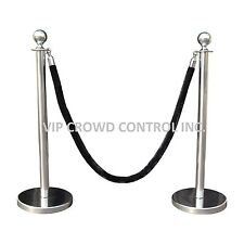 ROPE STANCHION, 2 CROWN POSTS, MIRROR S.S. & 1 ROPE