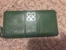Coach Green Patent Leather Zip Around Accordion Wallet