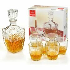 Bormioli Rocco Selecta Whiskey Decanter Combo, Clear - Set of 7
