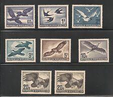 Austria #C54-C60 EF MNH - 1950 60g to 20s Birds - SCV $353.60