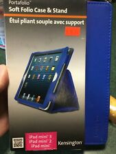 Brand New Blue Case/Cover Stand for iPad Mini 1, 2 and 3 Portafolio Kensington