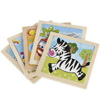 Development Baby Toys 3D Cartoon Wooden Puzzle Learning Educational Kids Toy