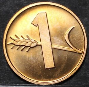 Switzerland 1985 Rappen Rare Proof~Only 12,000 Minted~Oat Sprig~Cross~Free Ship