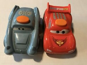 Lot of 2: Fisher Price Disney Cars: McQueen & McMissile Flash Light Talking Car