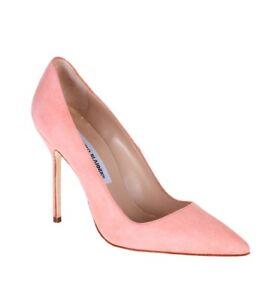 Manolo Blahnik BB Coral Pink Classic Pumps Size 36/6 *Celebrity Fave*
