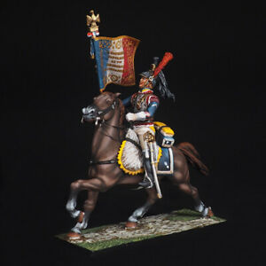 Tin soldier, Senior sergeant-serf of the 7th cuirassier, Napoleonic Wars, 54 mm