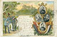 Ansichtskarte Baden-Baden 1900 SOldaten Kaiser ??  (Nr.784)