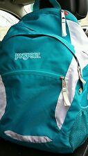 Turquoise Jansport backpack bright hiker back pack