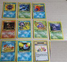 lot cartes pokemon fossile 1er edition FR