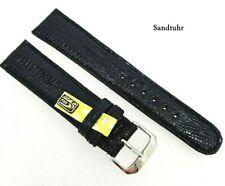 Uhrenarmband 20mm schwarz echt Teju Eidechse Made in Germany / 53