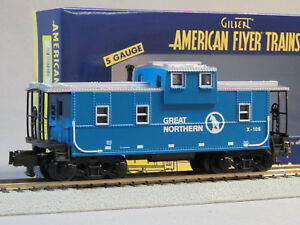 LIONEL AMERICAN FLYER GREAT NORTHERN EXTENDED VISION CABOOSE S GAUGE 6-44110 NEW
