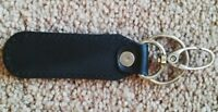 Leather Key Chains Handmade Car Key Holder Keychain Key Ring Car Black Keyring