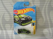 2018 HOT WHEELS ''CHECKMATE'' #139 = `12 FORD FIESTA = BLACK ,int