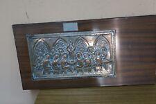 """Vintage Last Supper """"Ultima Cena De Jesus"""" Picture 3D Copper Relief Repousse"""