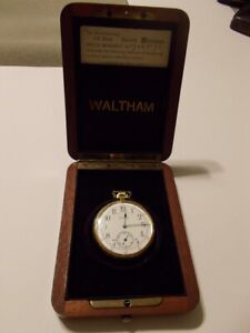 Ultra Rare Waltham Riverside Maximus 23 Jewel with Factory Wood Box & Guarantee
