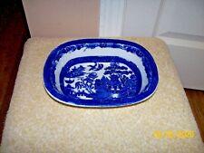 VINTAGE ALLERTONS LTD. BLUE WILLOW ORIENTAL DESIGN OVAL DISH - ENGLAND